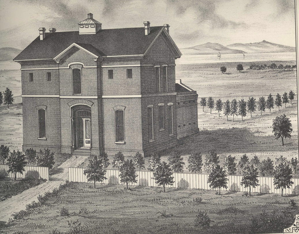 """County Jail, 1870s, Judge Pitcher's HMB """"Courtroom"""" and"""