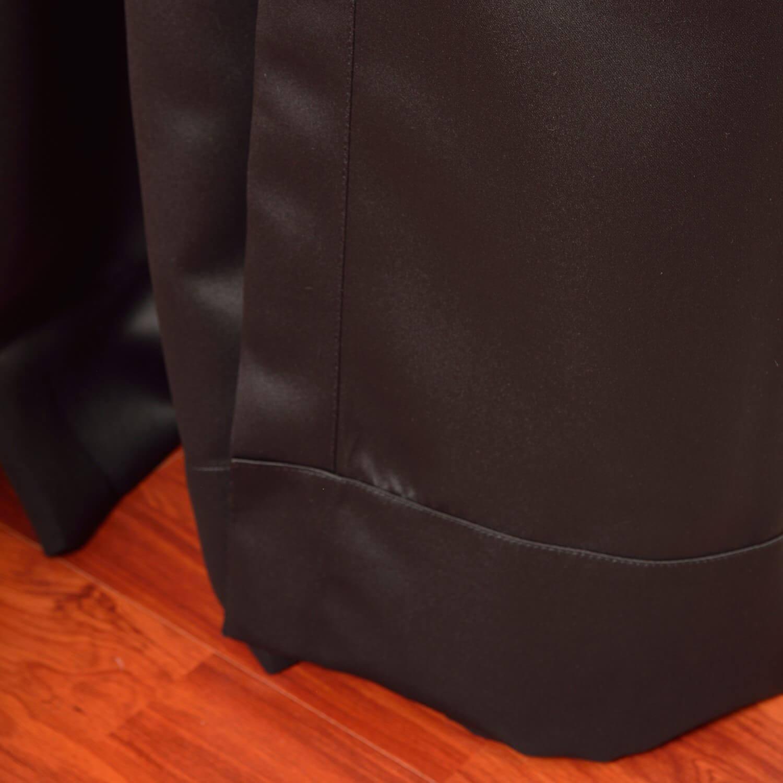 Jet Black Grommet Extra Wide Blackout Curtains Amp D S