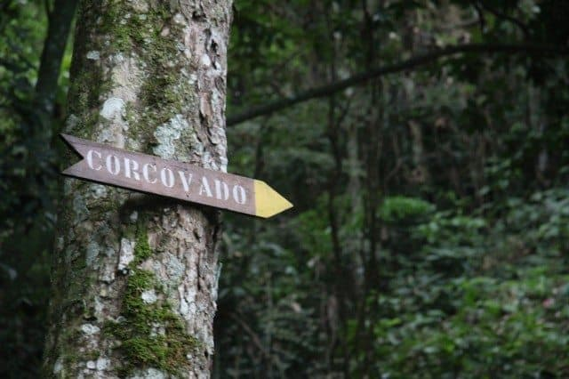 Corcovado Trailhead Sign