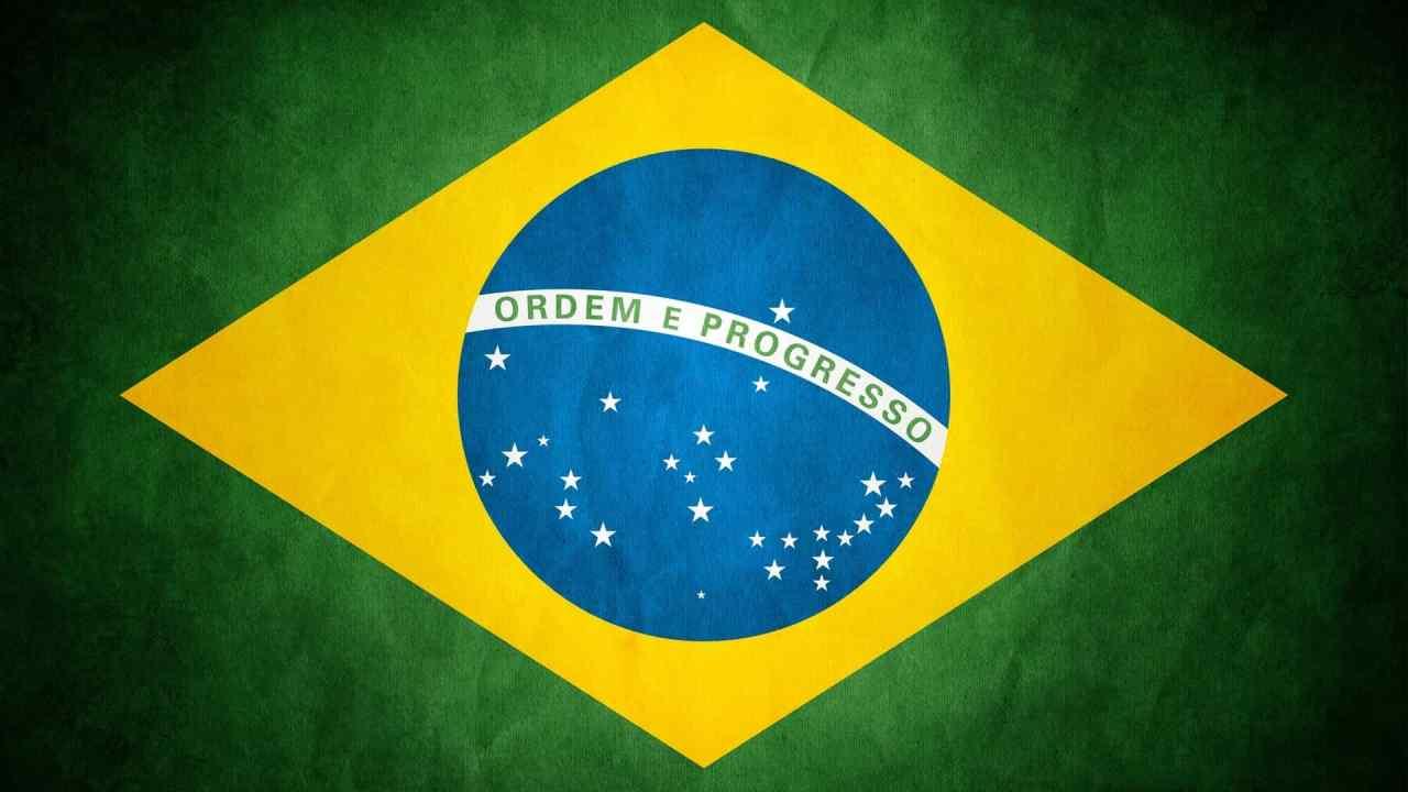 Brazil Flag Grunge