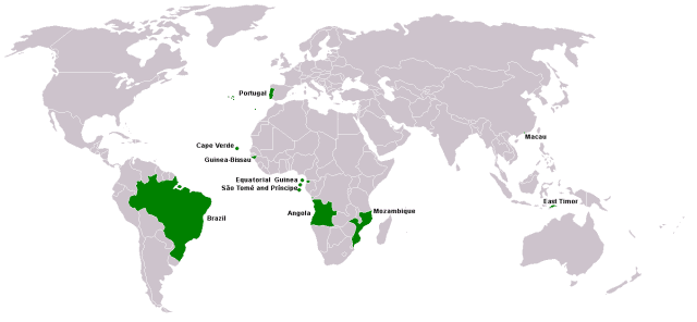 Portuguese Language Map