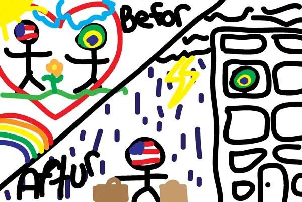 Refugee Camp Drawing