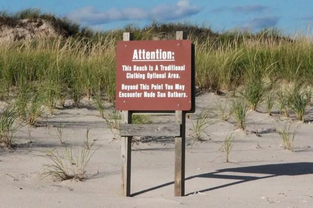 Fire Island Nude Beach Sign