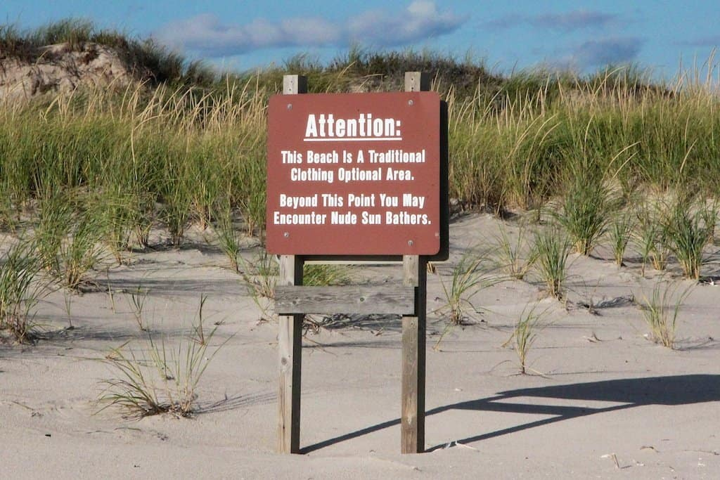 Fire Island Nude Beach Sign