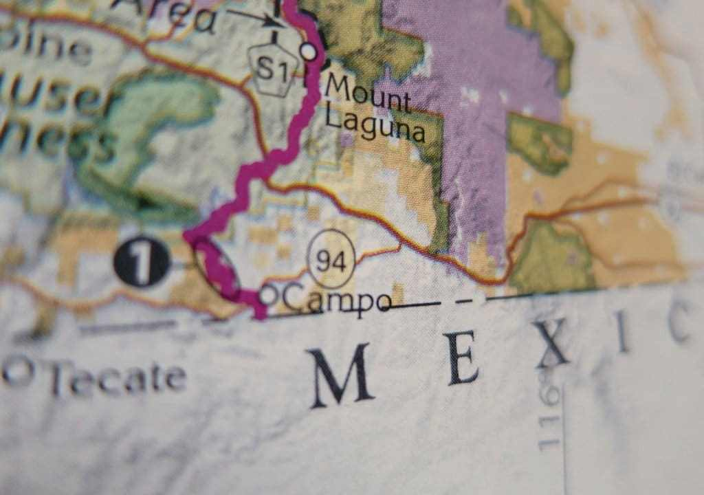 PCT Map Mexico - Campo