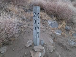 PCT 200 Mile Marker