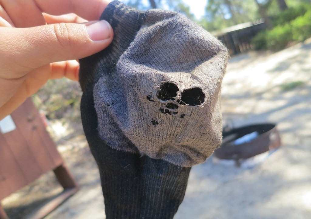 Destroyed KEEN Socks 3