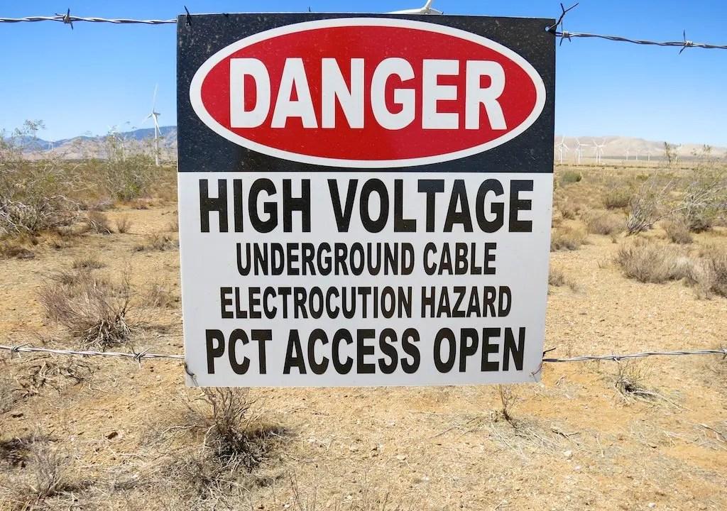 PCT Access Open Sign