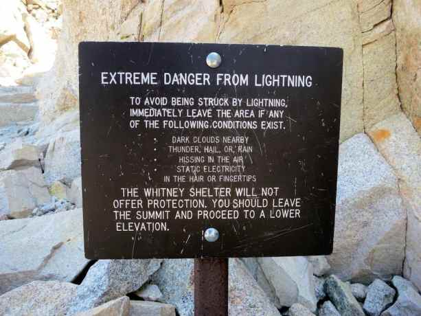 Mount Whitney Lightning Sign