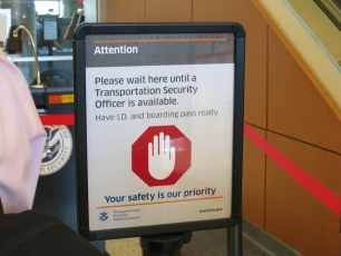TSA Stop Sign