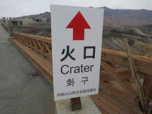 Aso Crater Sign