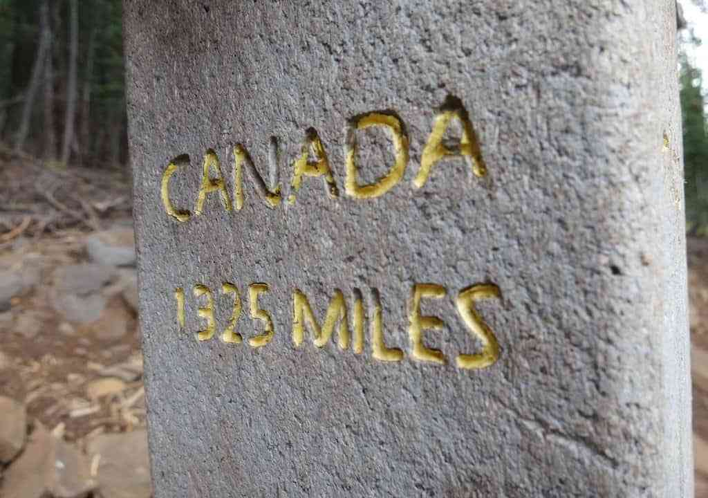 PCT Midpoint Canada Sign