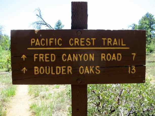 Pacific Crest Trail Sign 2