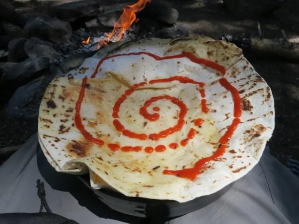 Trail Food Cooking - Quesadilla