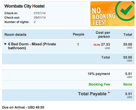 Hostel Bookers Payment