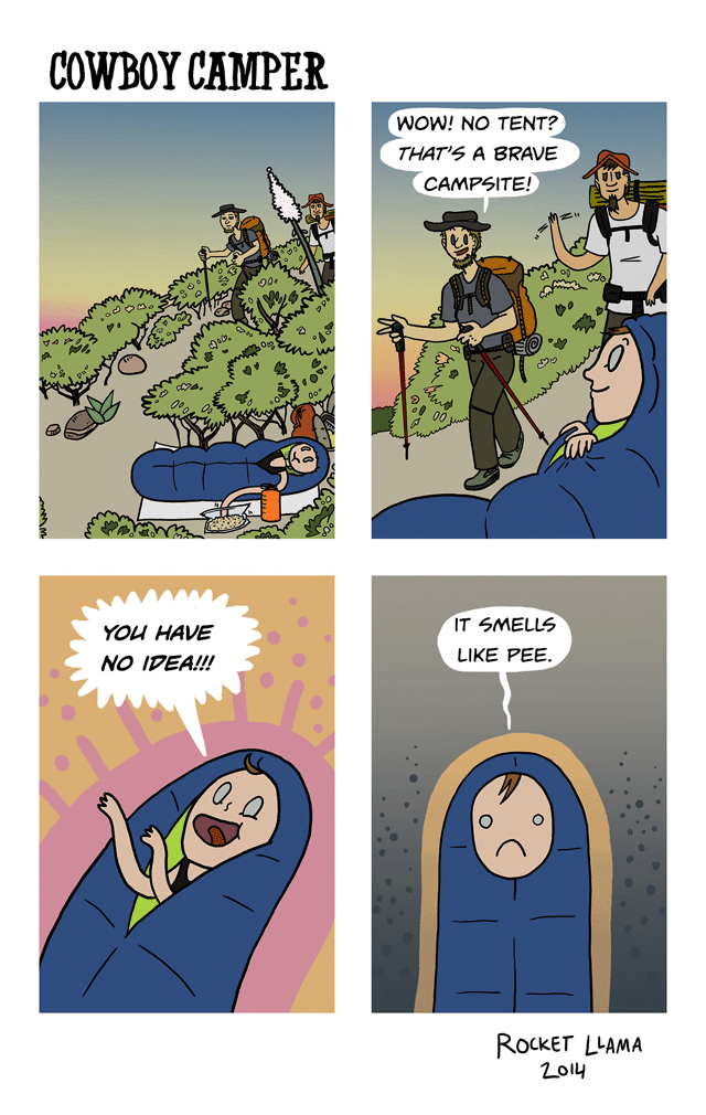Rocket Llama Cowboy Camping Comic