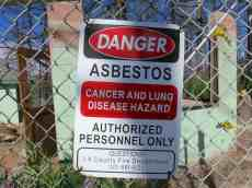 Asbestos Sign PCT