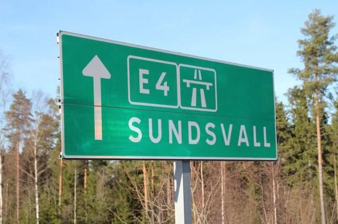 E4 Sundsvall Sign