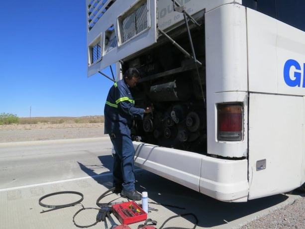 Fixing Greyhound Bus