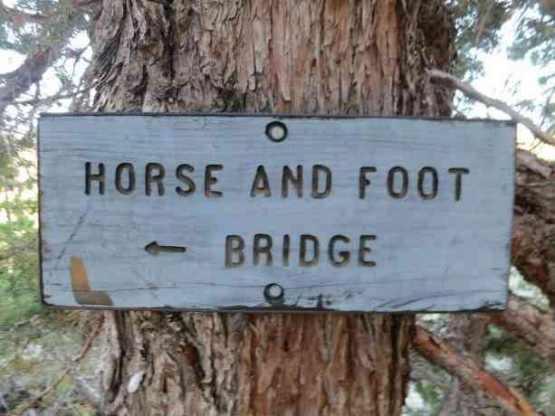 Horse And Foot Bridge PCT Sign