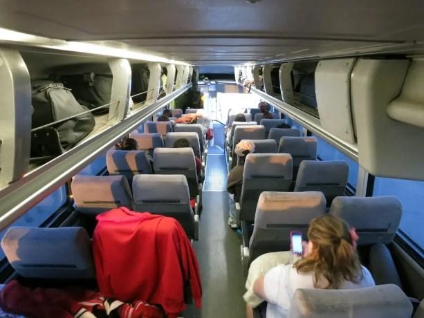 Inside Of Greyhound Bus