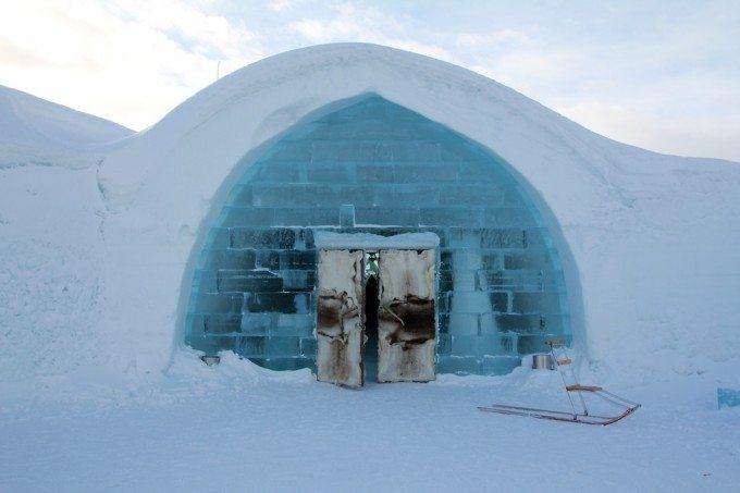 Kiruna Ice Hotel Entrance