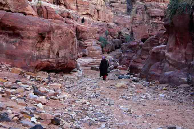 Petra Trail To Manastery Woman