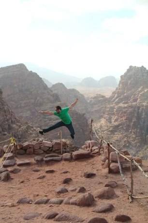 Petra Jordan Jumping Picture
