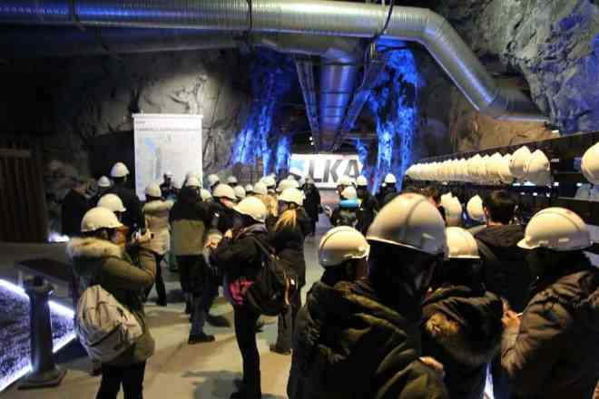 Kiruna Mine Tour Crowd
