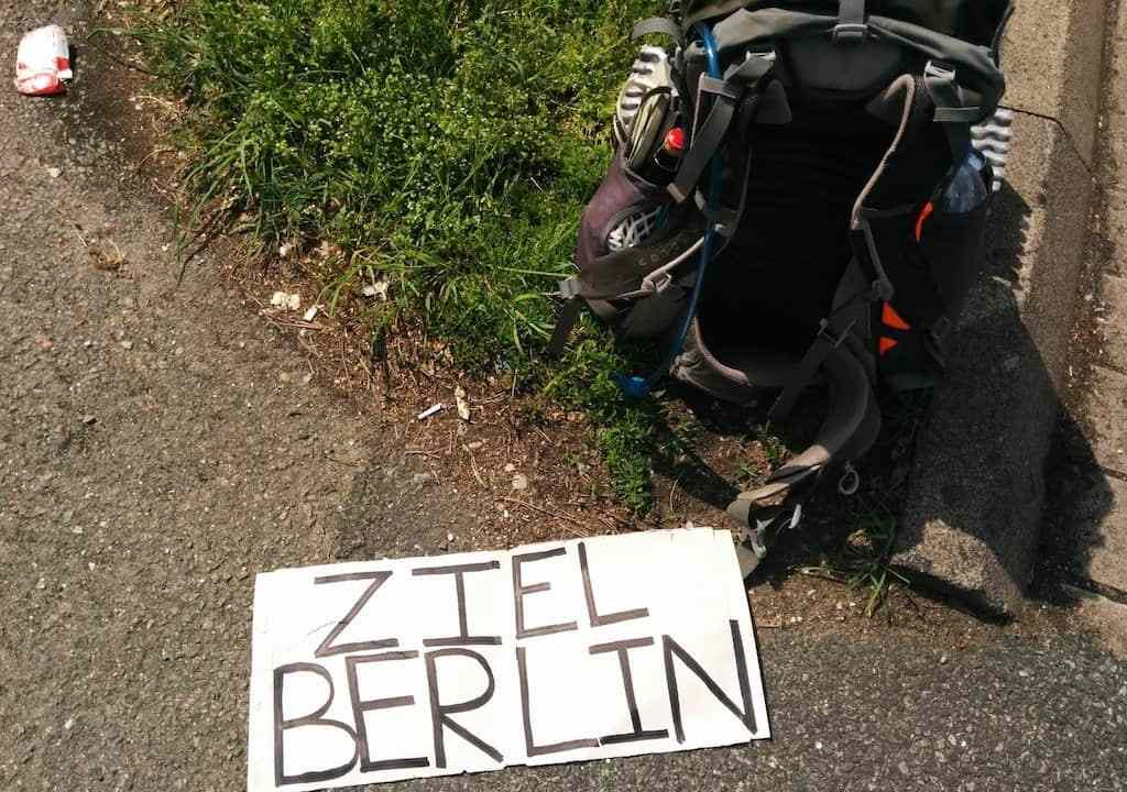Germany Hitchhiking Sign 1