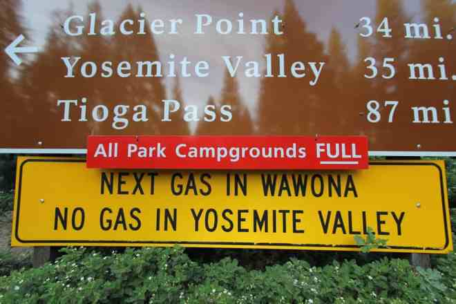 Yosemite Campground Sign