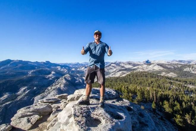 Yosemite Clouds Rest Self Top