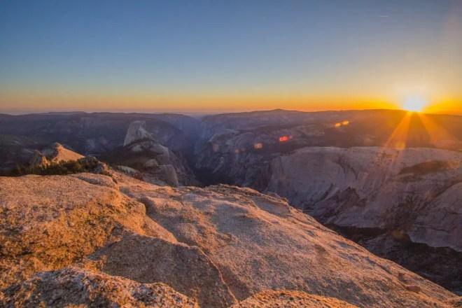Yosemite Clouds Rest Sunset