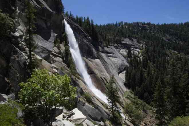 Yosemite Mist Trail Waterfall 1