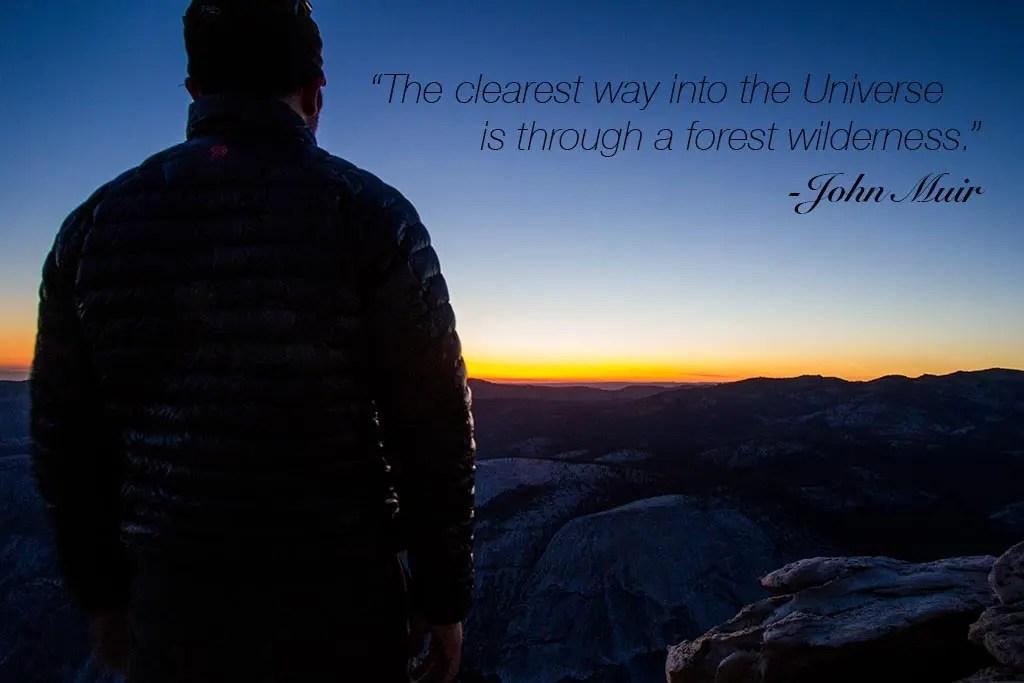 Yosemite Sierras John Muir Quote 1024