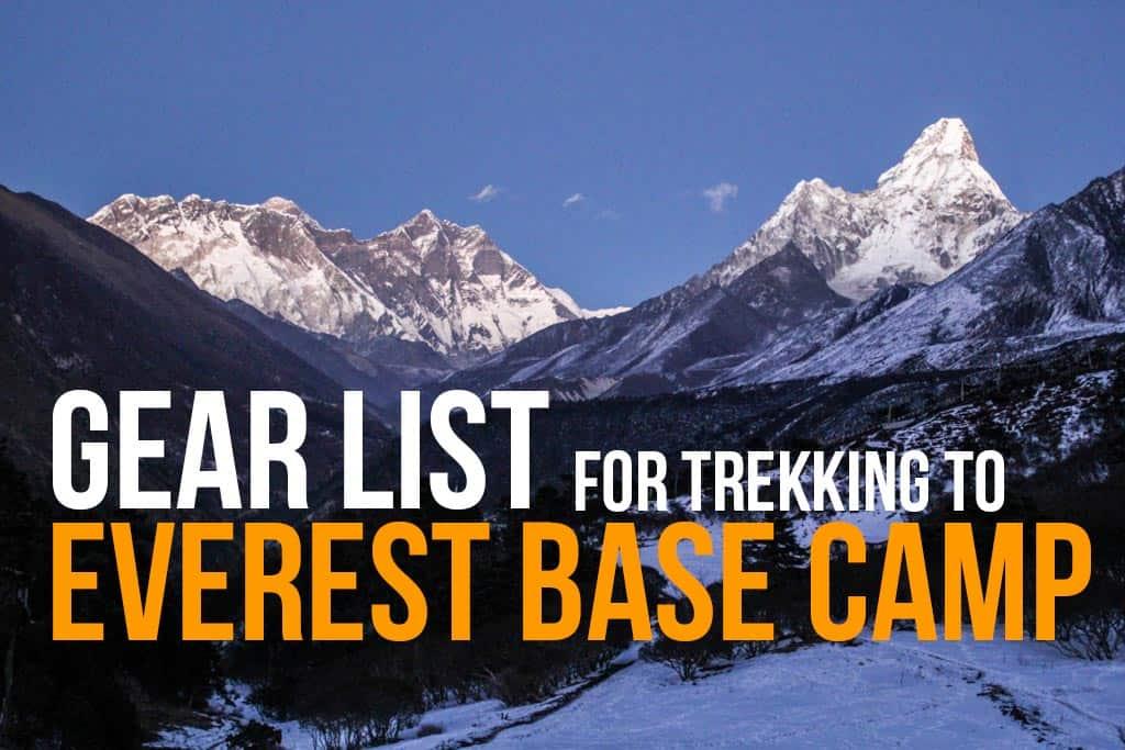 EBC Trek Gear List