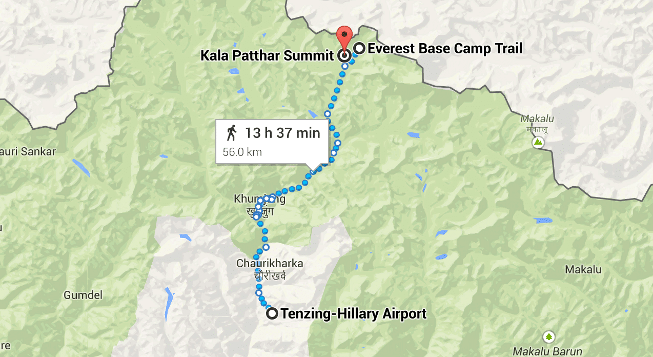 Everest Base Camp Route Google Maps
