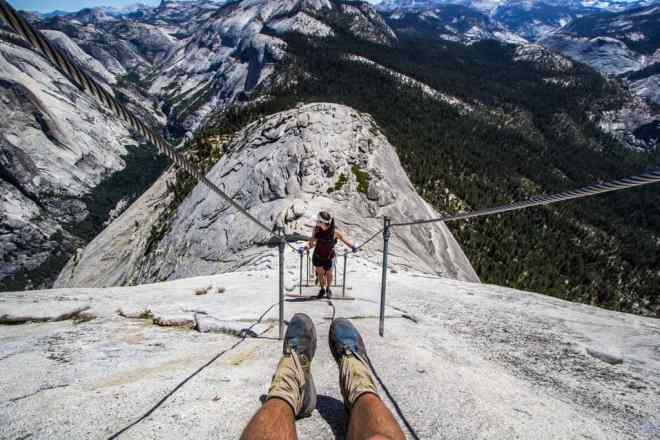 Halfdome Feet Down