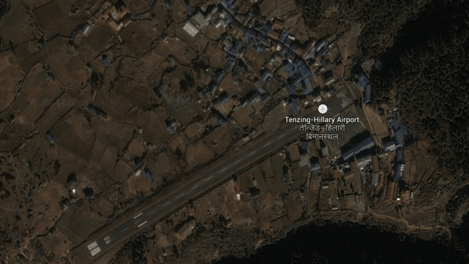 Lukla Airport Google Map