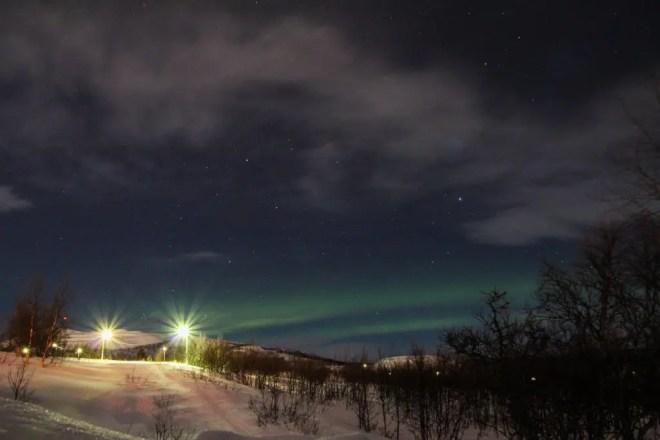 Well, at least I saw something. Next stop Alaska - Kiruna, Sweden.