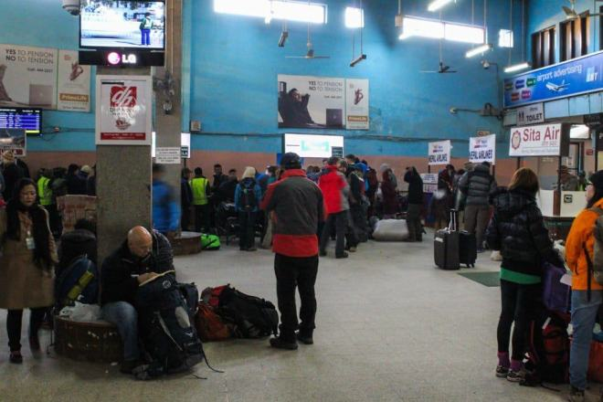 Inside Kathmandu Domestic Terminal Airport