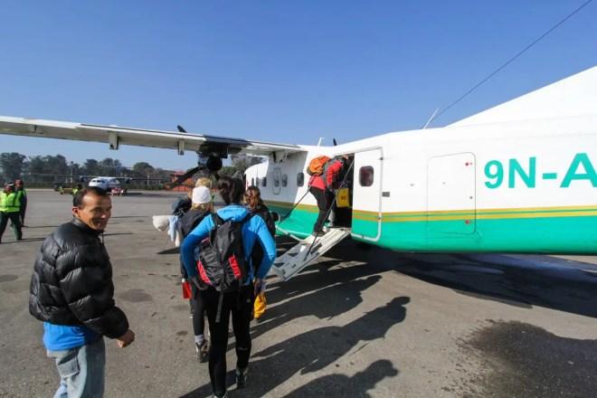 KTM-Lukla Yeti Airlines Boarding Plane