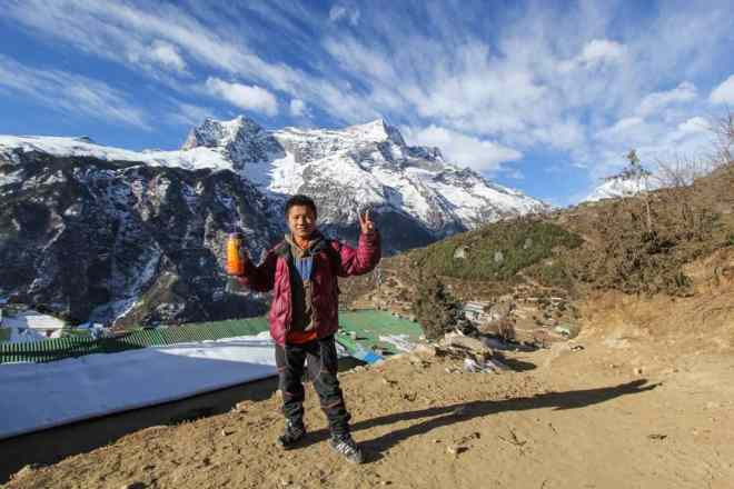 Buddha Namche Mountains