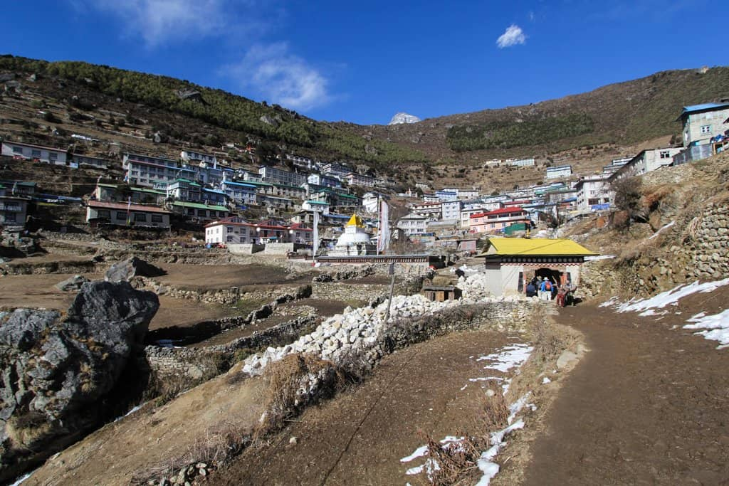 Namche Bazaar From Bottom