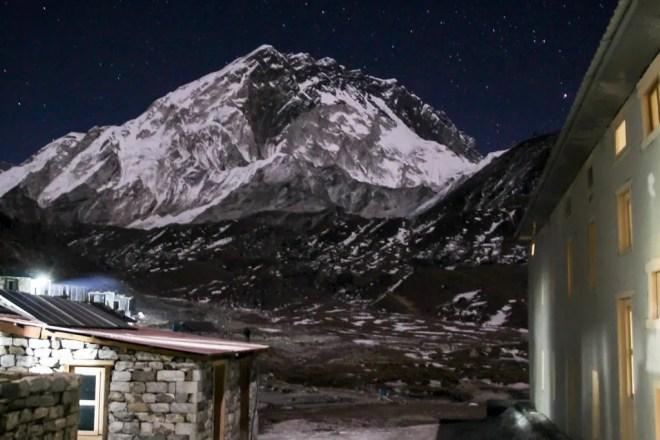 EBC Trek Lobuche Night Mountain
