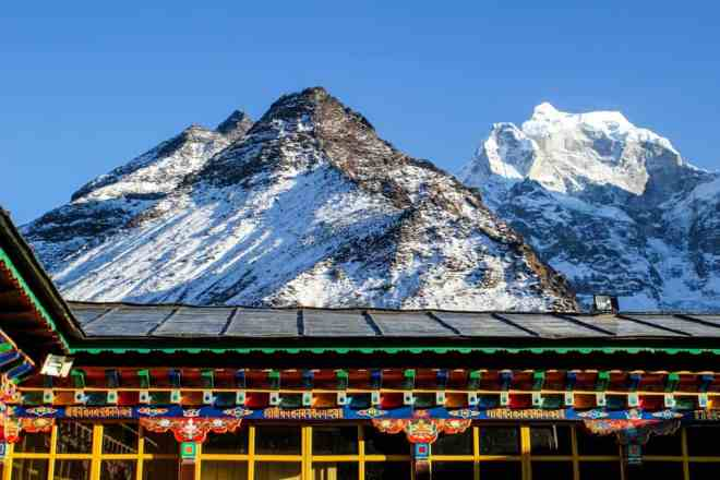 Everest Base Camp Trek Tengboche View