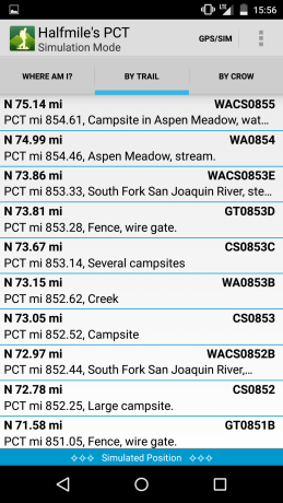 Halfmile PCT App Screenshot 8