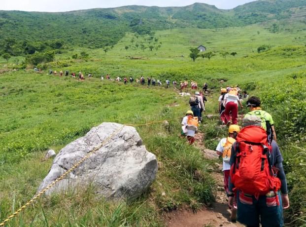 Mt Ibuki Children Hikers