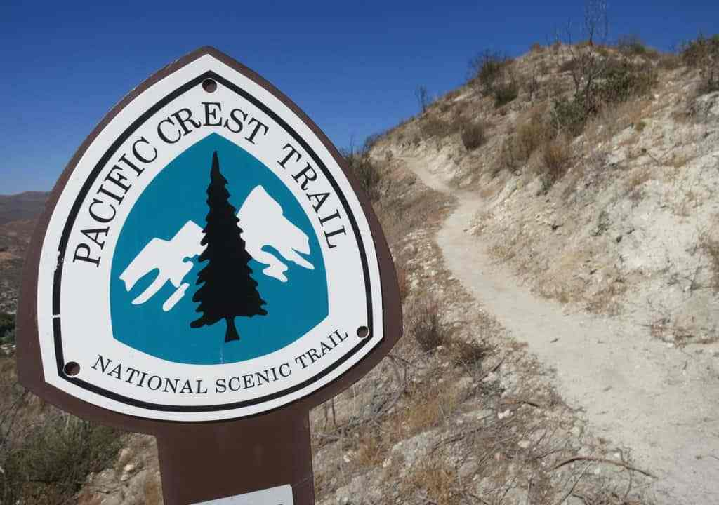 PCT Sign Marker Desert