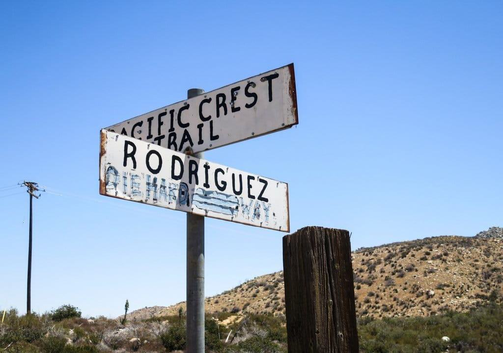 Rodriguez Water PCT Sign